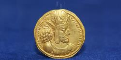 "Sasanian Kingdom Shapur I. Gold Dinar AD 240-272 Mint I (""Ctesiphon"") 7.49g, 21mm, EF"