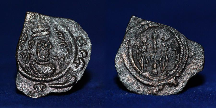 Ancient Coins - SASANIAN KINGDOM KHUSRO II AE pashiz. Mint of (AI) 0.44g, 16mm, ABOUT EF & RRR