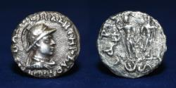 Ancient Coins - BAKTRIA, Indo-Greek Kingdom. Diomedes Soter. Circa 115-105 BC. AR Drachm 1.47g, 15mm, F & RR