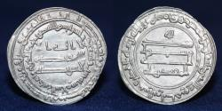 World Coins - ABBASID AL-MUQTADIR (295-320h) Dirham, Madinat al-Salam 296h, 2.82g, 28mm, EF