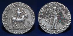 Ancient Coins - INDO-SCYTHIAN Azes II, ca. 35 BC - AD 5, AR Tetradrachm, 9.09g, 23mm, VERY FINE