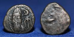 Ancient Coins - Kings of Elymais Kamnaskires-Orodes Early to Mid 2nd Century AD AE Drachm, 3.66g, 16mm, ABOUT EF