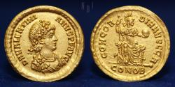 Roman Gold Solidus - Valentinian II ( 388 to 392 ) 4.35g, 20mm, EXTREMELY FINE & RARE