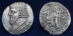 Ancient Coins - PARTHIAN KINGDOM Gotarzes II (c. AD 44-51) Billon Tetradrachm, 12.48g, 29mm, GOOD VF