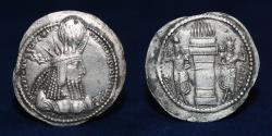 Ancient Coins - SASANIAN KINGS Varhran (Bahram) I. AD 273-276. Silver Drachm. 3.84g. 27mm. VF & R