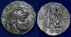 Ancient Coins - KINGS of CHARACENE Apodakos Circa 110/09-104/03 BC. AR Tetradrachm, Charax-Spasinu Mint.