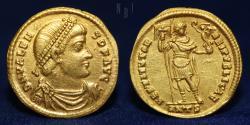 Ancient Coins - Valens. AD 364-378. AV Solidus. Antioch mint, 10th officina. Struck AD 365, 4.46gm, 21mm, EF