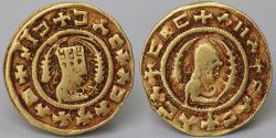 Ancient Coins - AXUM: Ebana, ca. 450-500, AV (16mm,1.5g) GOOD VF & R