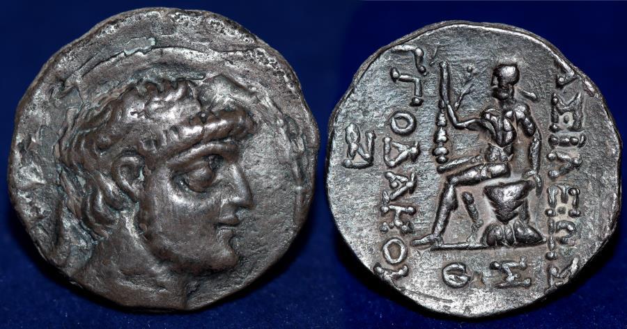CHARACENE: Abinergaos I, ca. 9-22 AD, AR tetradrachm (11.31g)