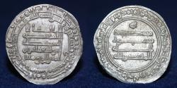 World Coins - ABBASID AL-MUQTADIR (295-320h) Dirham, Madinat al-Salam 297h, 2.49g, 27mm, EF