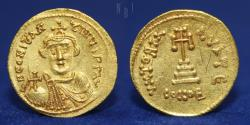 Ancient Coins - Solidus Byzantine Empire (330-1453) Gold Constans II, Constantinople, 4.45g, 20mm, GOOD VF
