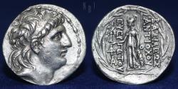 Ancient Coins - SELEUKID EMPIRE. Antiochos VII Euergetes (Sidetes). 138-129 BC. AR Tetradrachm, 16.09gm, GOOD VF