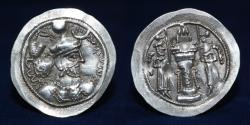 Ancient Coins - SASANIAN KINGS Yazdgerd I. 399-420 AD. AR Drachm, Mint ST, 4.03g. 30mm. ABOUT EF & R