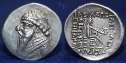 Ancient Coins - PARTHIAN KINGDOM Mithradates II, c. 123-88 BC, AR drachm, 4.10g, 21mm, EF & R