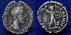 Ancient Coins - Commodus 177 - 192 AD, Silver Denarius, Minerva Silver Denarius, Rome Mint