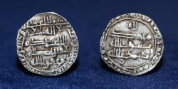 World Coins - ABBASID Al-Mu'tamid/Abu Ja'far Silver Sudaysi (sixth dirham), San'a' 268h (0.59g,14mm) ABOUT EF & RR