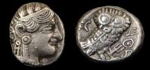 World Coins - Qataban, Southern Arabia. Unknown ruler(s). AR Tetradracham C, (350-300) BC. Imitating Athens.
