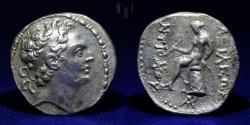 Ancient Coins - Seleucid Kingdom Antiochos IV, 175-164 BC AR Tetradrachm, 16.7g, 27mm, VF & RARE