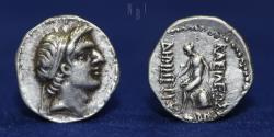 Ancient Coins - Seleucid Empire Demetrius I Soter SILVER Drachm, Soter, 162-150 BC, 4.02gm, ABOUT EF & R
