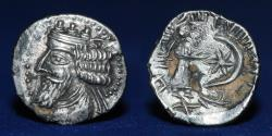 Ancient Coins - KINGS of PERSIS Nambed (Namopat) 1st century AD. AR Drachm 1.59g, 15mm, EF R