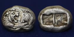 Ancient Coins - LYDIA Kings of Kroisos AR 1/3 stater 561-546 BC, struck in Sardes, 3.51 g, 14 mm, VF & R