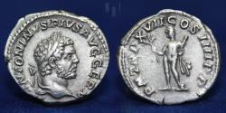 Ancient Coins - Caracalla, AR Denarius, 213, Rome ANTONINVS PIVS AVG GERM, 3.09gm, 19mm, GOOD VF