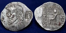 Ancient Coins - KINGS of ELYMAIS Kamnaskires IV. Circa 63/2-54/3 BC. AR Tetradrachm 30mm, 13.95g, ABOUT EF & R