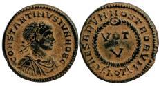 Ancient Coins - Constantine II, Aquileia. AE4. AD 320.
