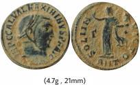 Ancient Coins - MAXIMINUS II.310-313 AD. Æ Follis.