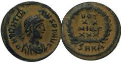 Ancient Coins - Gratian AE4. 379 AD. Cyzicus Mint.