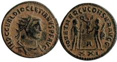 Ancient Coins - Diocletian AE Antoninianus, Antioch. A officina. No Online Example.