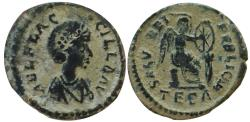 Ancient Coins - AELIA FLACCILLA, wife of Theodosius I. Died 386 AD. Scarce