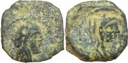 Ancient Coins - Malichous II with shaqilat  (40 - 70 AD ). Unpublished