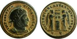 Ancient Coins - Constantine I. AD 307/310-337. Æ Follis. Ticinum mint , Lovely and bold Example !!!