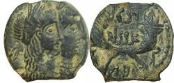 Ancient Coins - Rabbel II with his mother  squilat  . 70-106 AD.
