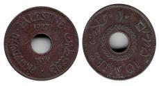 World Coins - Palestine, 10 Mils, 1927,Copper-nickel