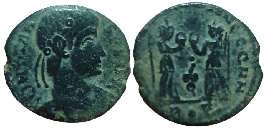 Ancient Coins - Constans. AD 347 - AD 348. Rome mint. No online example