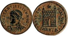 Ancient Coins - Constantine II, AE follis. Antioch, AD 330 - 334.