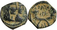Ancient Coins - Aretas IV with Shuqailat