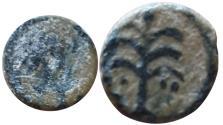Ancient Coins - Judaea. Caesarea Maritima (?) AE minima AE 8. Struck 1st-2nd centuries AD.