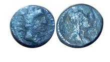 "Ancient Coins - Aretas IV, with Huldu. "" Ancient Bronze Drachm"" probably ancient fake coin"