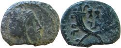 Ancient Coins - Aretas IV .9 BC-AD 40 . ..... probably unique.