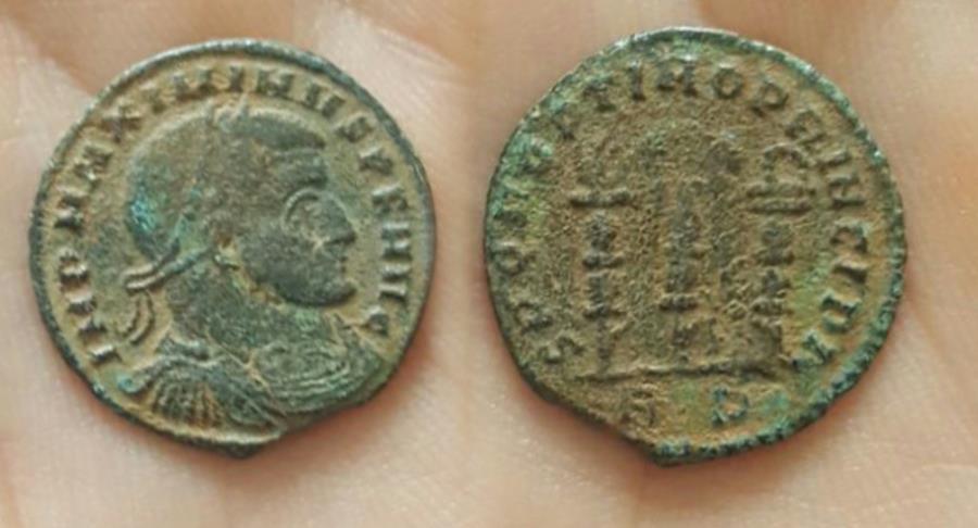 Ancient Coins - Maximinus II, AE Follis, 312-313 AD