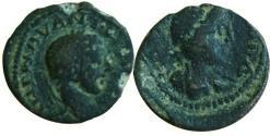 Ancient Coins - Elagabalus , Arabia. Charachmoba , 218-222 AD. Extremely rare.