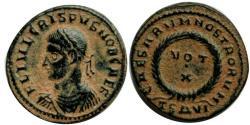 Ancient Coins - Crispus - Caesar 316-326 AD .Thessalonica mint.