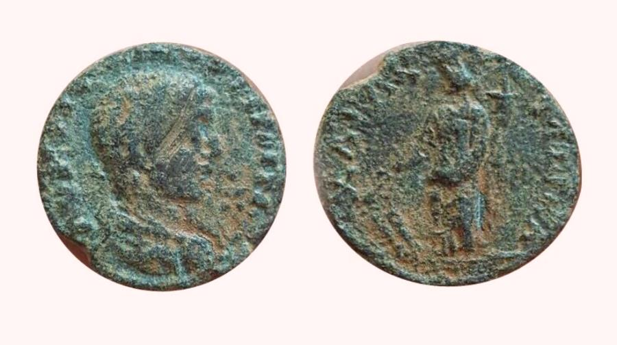 Ancient Coins - Elagabalus , ARABIA, Charachmoba. AD 218-222.  Extremely rare type