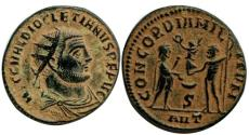 Ancient Coins - Diocletian. Antioch, 296-297 AD.