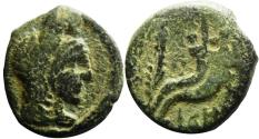Ancient Coins - Aretas IV (9 BC - 18 AD) with his daughter  Phasaelis ( 1 of 2 type mentioned  in Nabataean coins book ) .... Unpublished