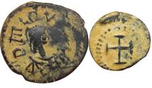 Ancient Coins - Leo I  462-772 AD. Probably unique.  Very attractive coin