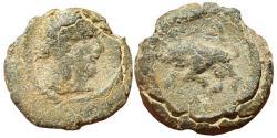 Ancient Coins - Obodas II . 30 - 9 BC . lead coin.